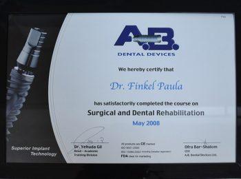 Certificate Dr Paula Finkel Medic Stomatolog Radauti 1