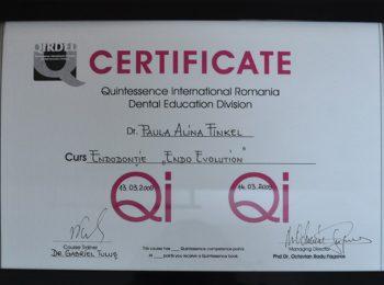 Certificate Dr Paula Finkel Medic Stomatolog Radauti 3